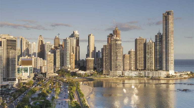 beautiful view of panama city, central america
